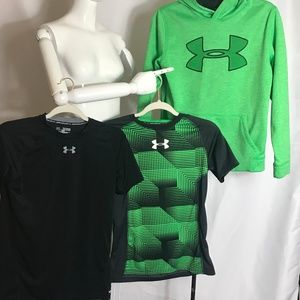 Under Armour Boys tee shirt and hoodie. Size 14